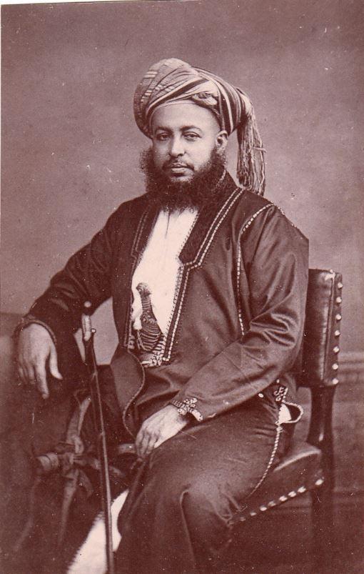 Antique photo of Bargash sultan of Zanzibar taken by Maull & Co London 1879