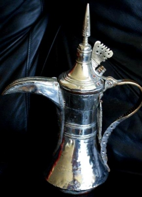 Omani Antique Silver Coffeepot Large Coffee Pot